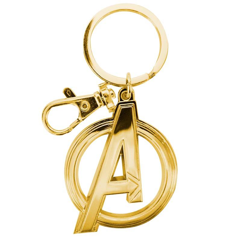 Avengers A Logo Superhero Gold Keychain