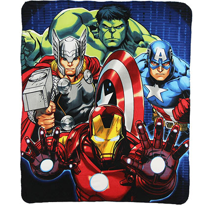 Marvel Avengers Fleece Throw Blanket