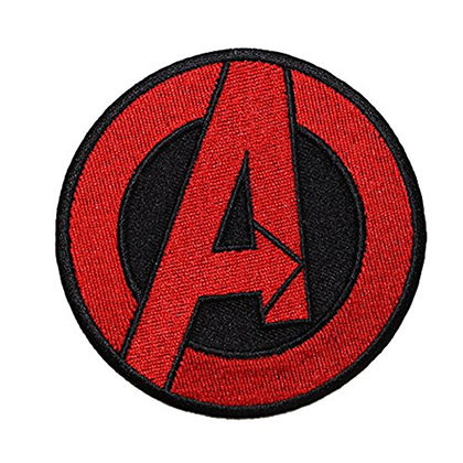 Avengers Black Embroidered Patch