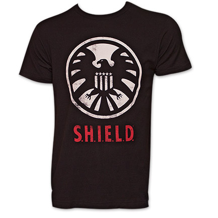 Avengers Shield Logo TShirt - Black