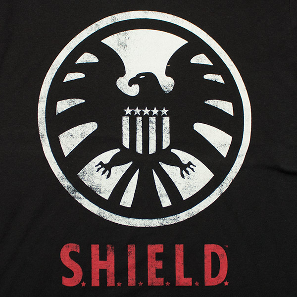 Avengers Shield Logo Tee Shirt - Black
