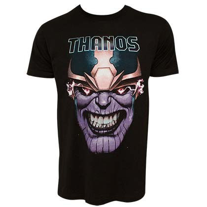 Avengers Infinity War Thanos Clenched Teeth Men's Black TShirt