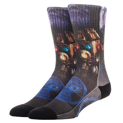 Avengers Infinity War Thanos Gauntlet Men's Socks