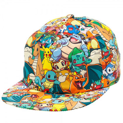 Pokemon Characters All Over Sublimated Hat