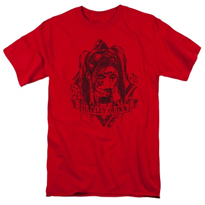 Harley Quinn Diamond Dice Red Tshirt