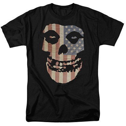 The Misfits American Flag Logo Tshirt