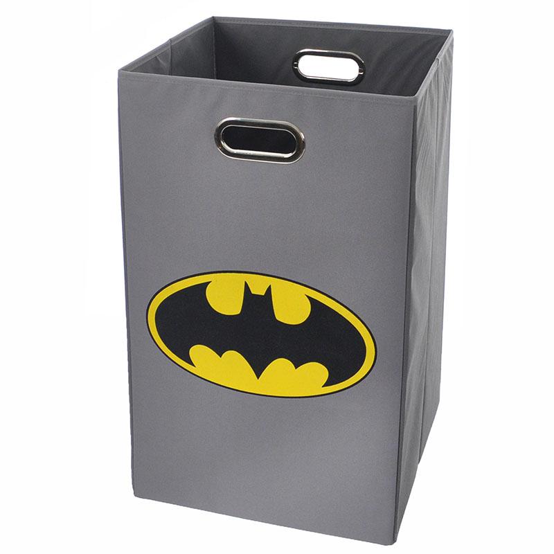 Batman logo gray folding laundry basket - Batman laundry hamper ...