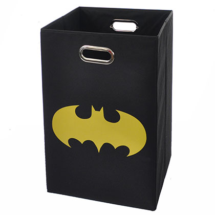 Batman Shield Black Folding Laundry Basket
