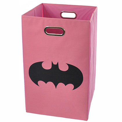 Batman Shield Pink Folding Laundry Basket