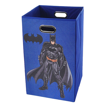 Batman Pose Blue Folding Laundry Basket