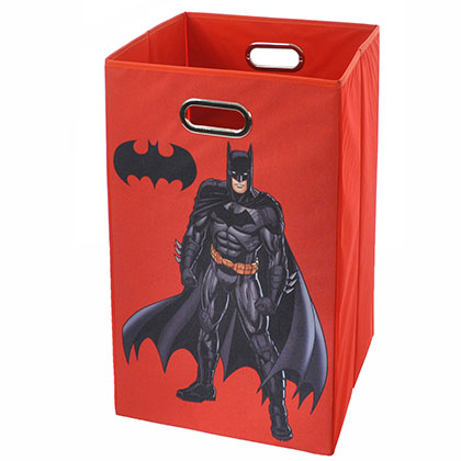 Batman Pose Red Folding Laundry Basket