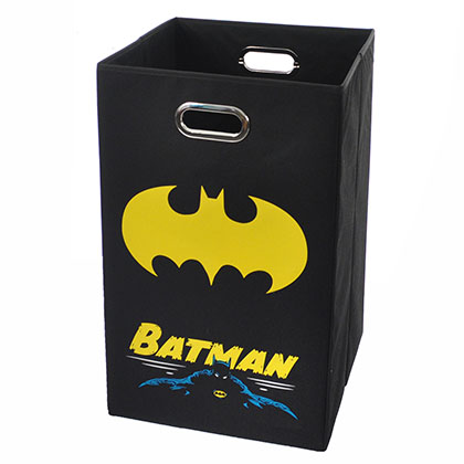 Batman Black Folding Laundry Basket