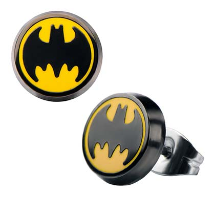 Batman Round Stud Earrings
