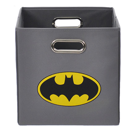 Batman Logo Gray Folding Storage Bin