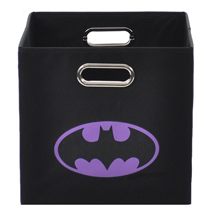 Batman Logo Purple Black Folding Storage Bin