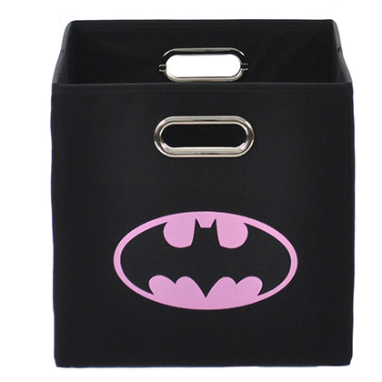 Batman Logo Pink Black Folding Storage Bin