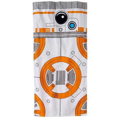 Star Wars Orange & White BB8 Beach Towel