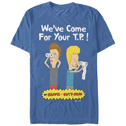 Beavis and Butthead Come For Your TP Blue Tshirt