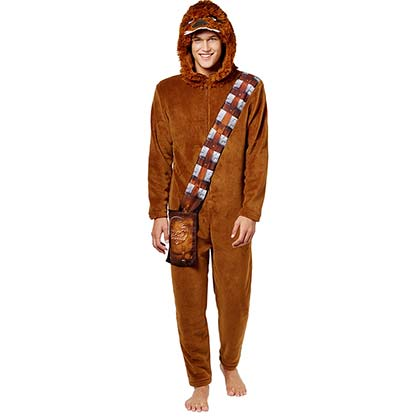 Star Wars Adult Chewbacca  Brown Union Suit
