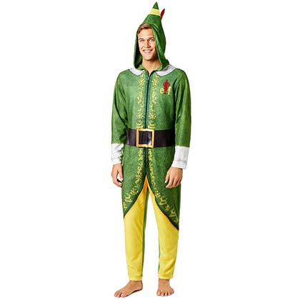 Elf Movie Green And Yellow Union Suit