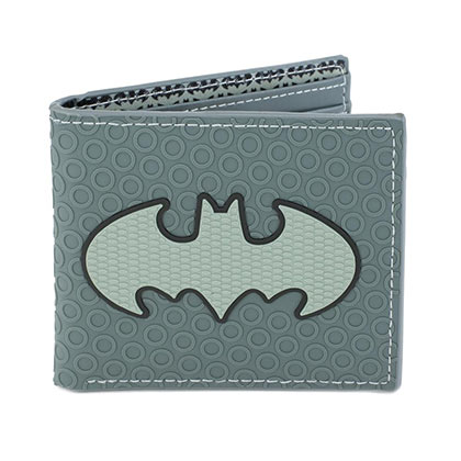 Batman Logo Grey Rubber Wallet