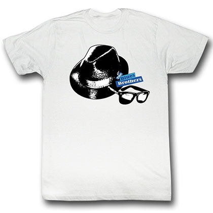Blues Brothers Hat And Glasses T-Shirt