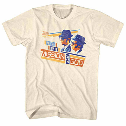 Blues Brothers Mission Boxes Off White T-Shirt