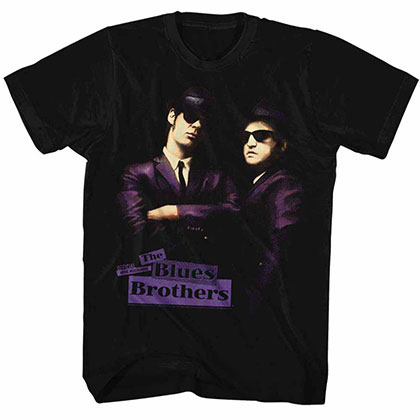 Blues Brothers Placards Black Tee Shirt
