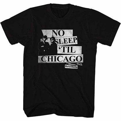Blues Brothers No Sleep Black Tee Shirt