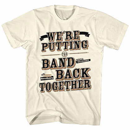 Blues Brothers Band Back Off White TShirt