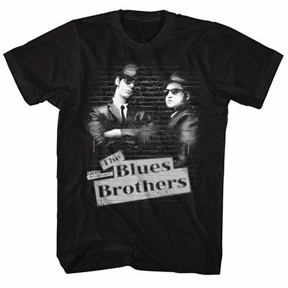 Blues Brothers Tag Black Tee Shirt
