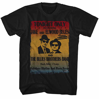 Blues Brothers Poster Black Tee Shirt
