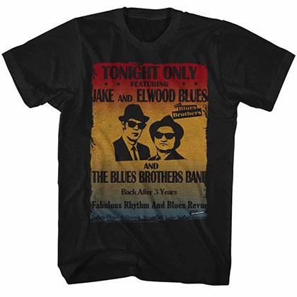 Blues Brothers Poster Black TShirt