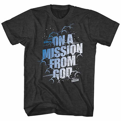 Blues Brothers Mission From God Black T-Shirt
