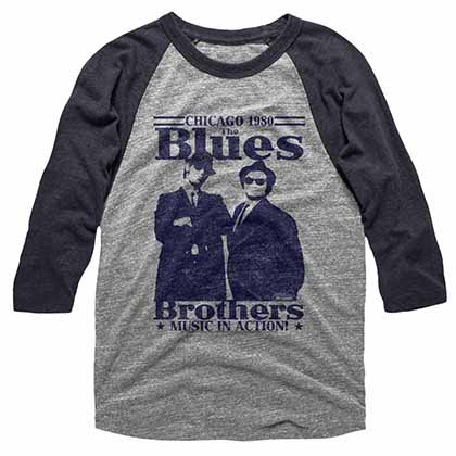Blues Brothers In Action Gray Tee Shirt