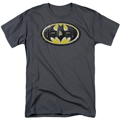 Batman Mech Logo Grey Tshirt