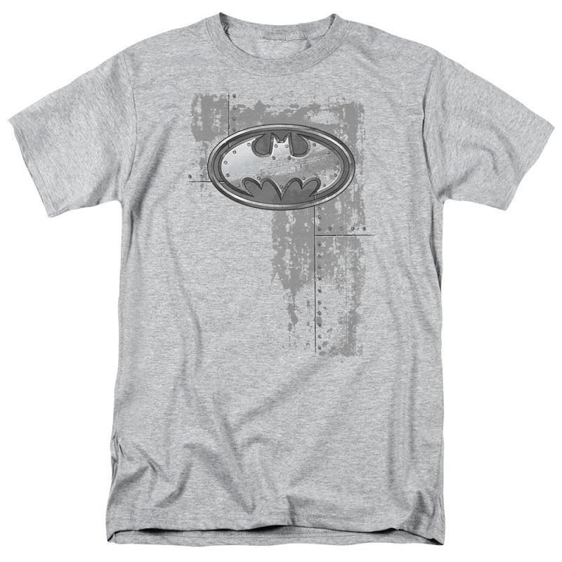 Batman Steel Logo Grey Tshirt