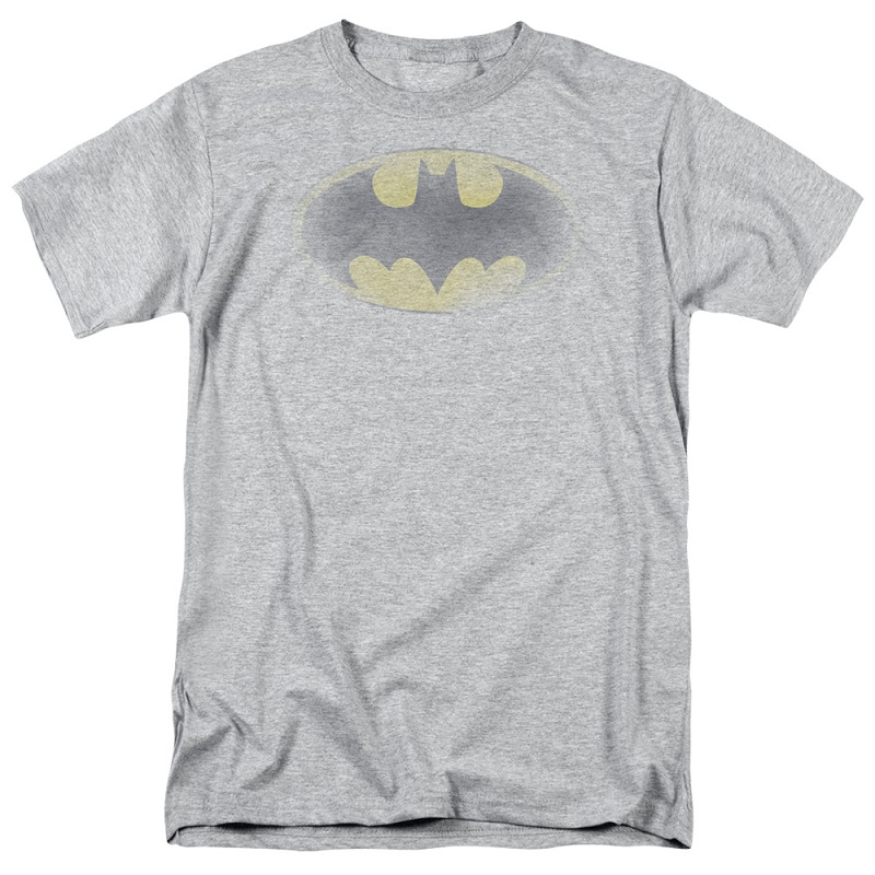 Batman Faded Logo Grey Tshirt