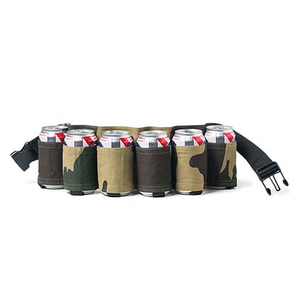 Camo Six Pack Beer Belt
