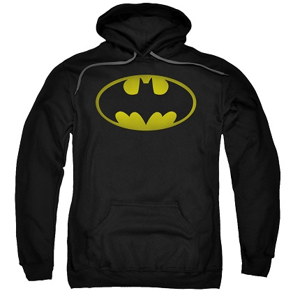 Batman Washed Logo Black Hoodie