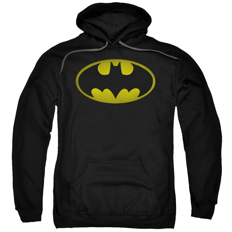 Batman Washed Logo Black Hoodie