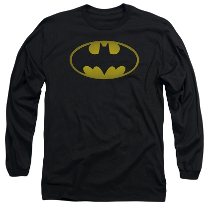 Batman Washed Logo Long Sleeve Tshirt