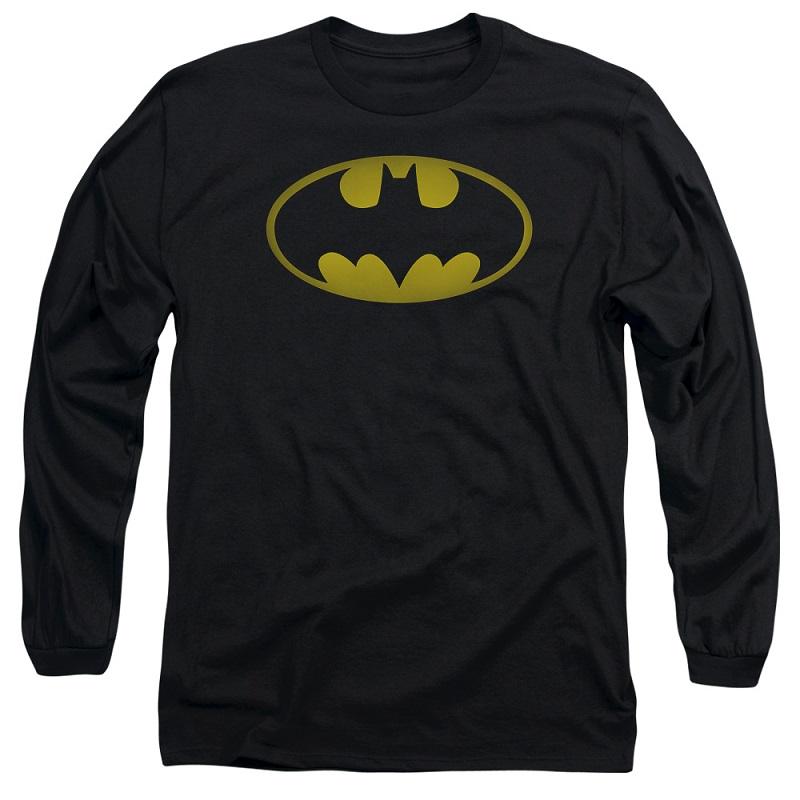 Batman Washed Logo Long Sleeve Tshirt