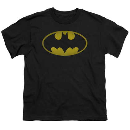 Batman Washed Logo Youth Shirt