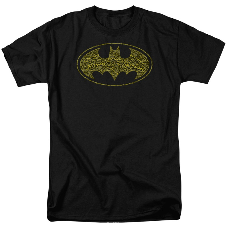 Batman Typeface Logo Black Tshirt