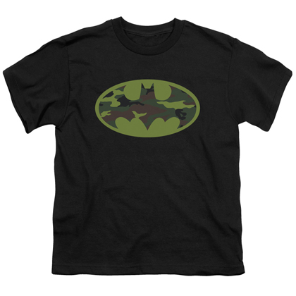 Batman Camo Logo Youth Tshirt