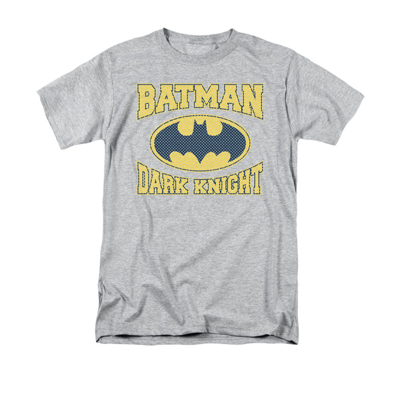 Batman Dark Knight Jersey Gray Tee Shirt