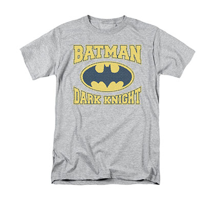 Batman Dark Knight Jersey Gray Tee Shirt