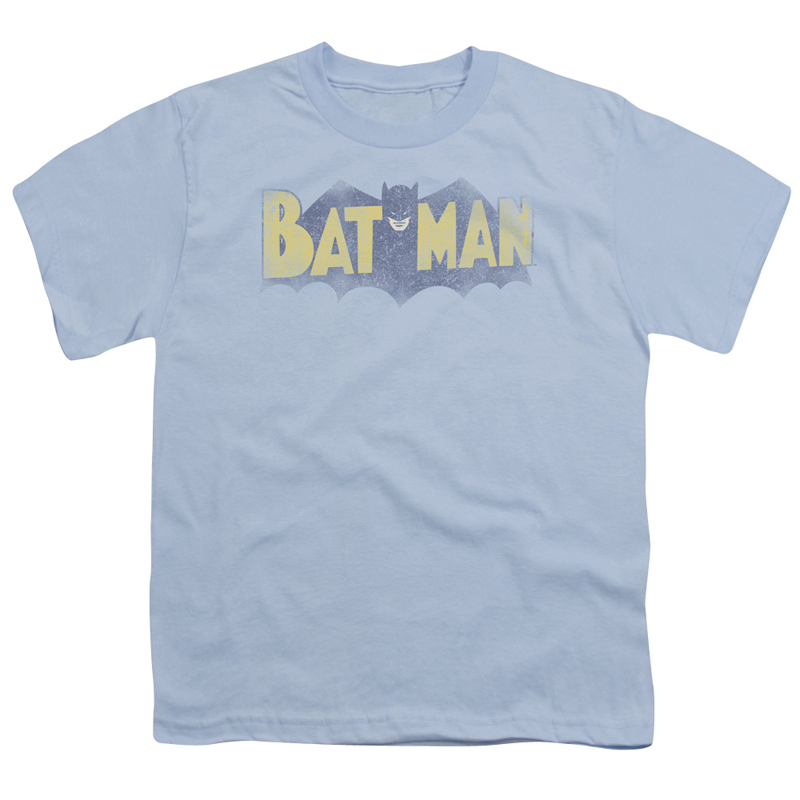 Batman Vintage Bat Logo Blue Youth Tshirt