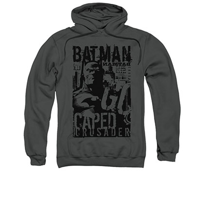 Batman Caped Crusader Gray Pullover Hoodie